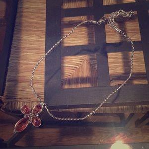 Brighton La Vie Pink Crystal Cross Necklace